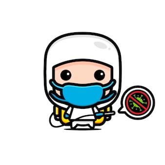 Virus radiergummi charakter design
