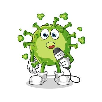 Virus tv reporter cartoon