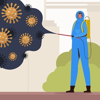 Virusdesinfektionskonzept