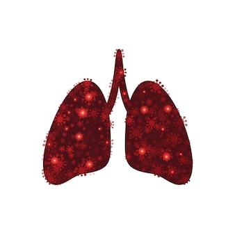 Virusinfizierte menschliche lunge