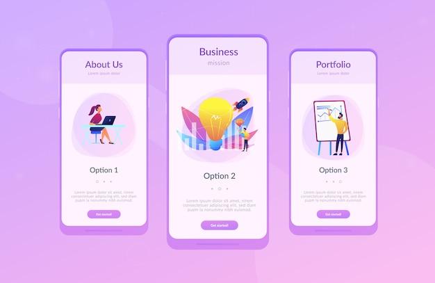 Vision statement app interface-vorlage