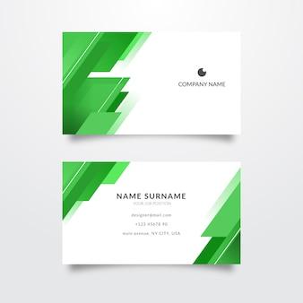 Visitenkarte abstrakte einfarbige vorlage
