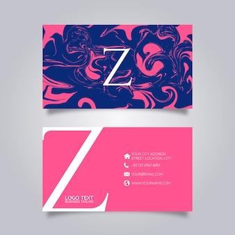 Visitenkarte abstrakte farbe
