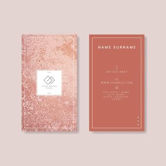 Visitenkarte aus rosa marmor