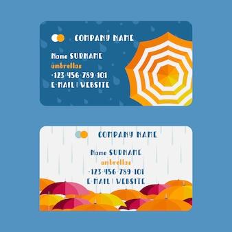 Visitenkarte der regenschirmfirma