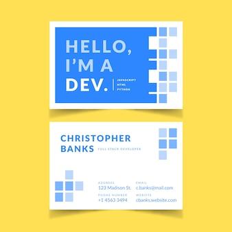 Visitenkarte des abstrakten designs