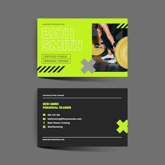 Visitenkarte des fitnesscenters