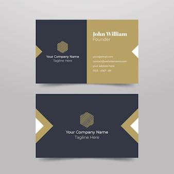 Visitenkarte des unternehmens mit minimalem design