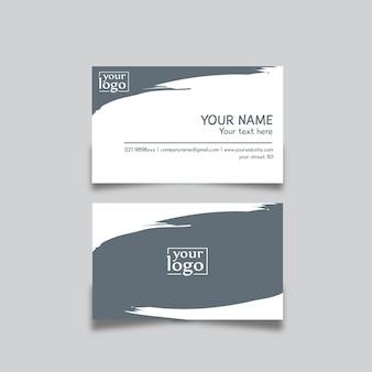 Visitenkarte design abstrakt blau