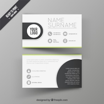 Visitenkarte design-vorlage