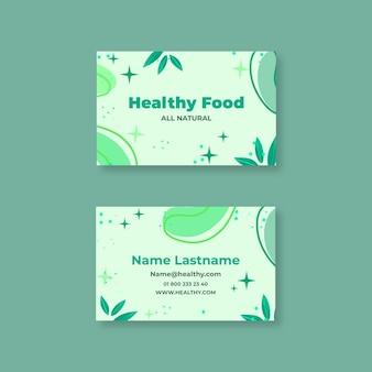 Visitenkarte für bio- und gesunde lebensmittel