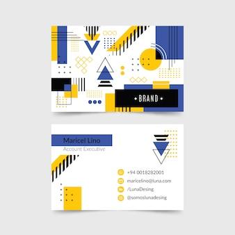 Visitenkarte im minimalistischen stil mit formen