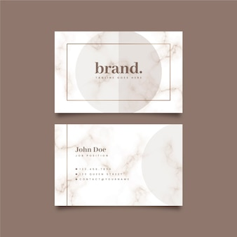 Visitenkarte im minimalistischen stil