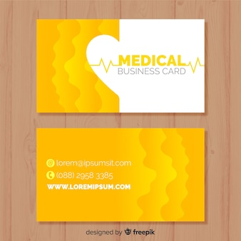 Visitenkarte in der medizinischen art