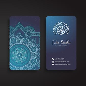 Visitenkarte jahrgang dekorative elemente hand gezeichnet hintergrund