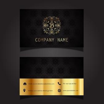 Visitenkarte layout mit elegantem design