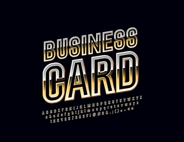 Visitenkarte luxus elegante schrift dünne gedrehte alphabet buchstaben zahlen und symbole