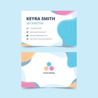 Visitenkarte mit abstraktem stil für art director