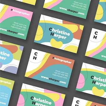 Visitenkarte mit abstraktem stil für fotografen