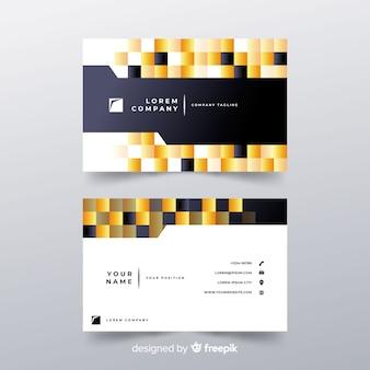 Visitenkarte mit abstrakten formen
