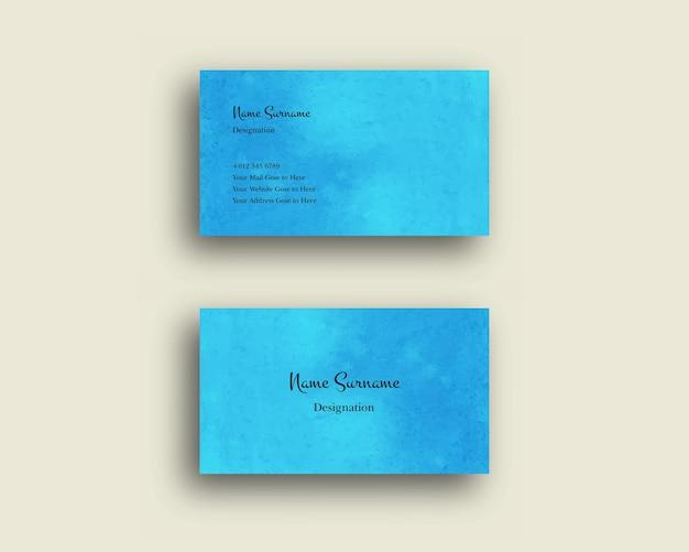 Visitenkarte mit abstrakter aquarell-schattierungspinsel-design-textur