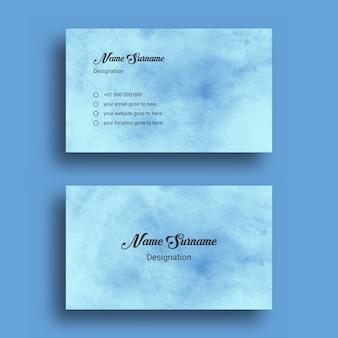 Visitenkarte, mit abstrakter splash aquarell hintergrund design vorlage