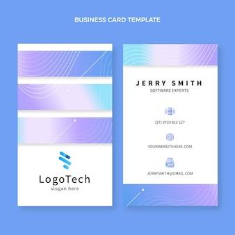 Visitenkarte mit abstrakter technologie mit farbverlauf