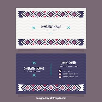 Visitenkarte mit boho dekoration
