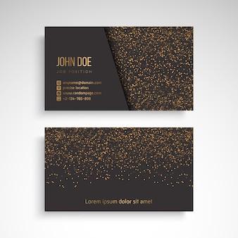 Visitenkarte mit dekorativen elementen der weinlese