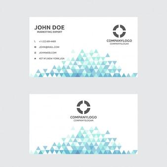 Visitenkarte mit dreiecke