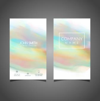 Visitenkarte mit einem pastell aquarell design