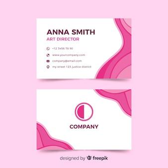 Visitenkarte mit einfarbigem design