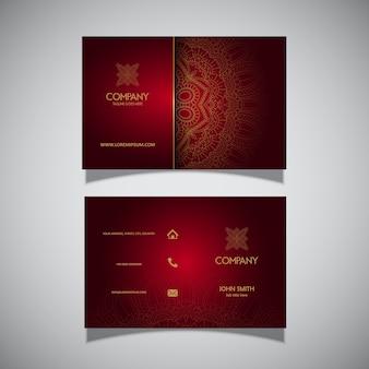 Visitenkarte mit elegantem dekorativem design