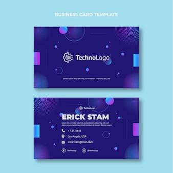 Visitenkarte mit farbverlauf halbtontechnologie horizontal Premium Vektoren