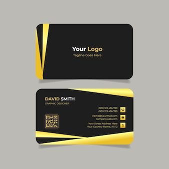 Visitenkarte mit goldenem farbverlauf