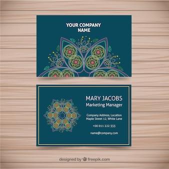 Visitenkarte mit hand gezeichnet mandala