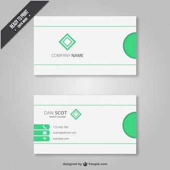 Visitenkarte mit hellgrünen elemente