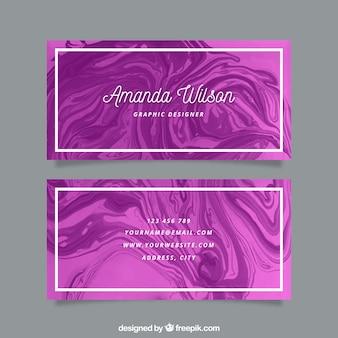 Visitenkarte mit marmorbeschaffenheit