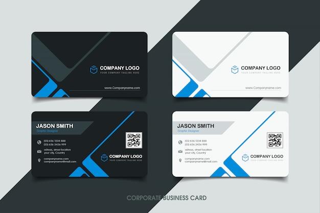 Visitenkarte mit modernem design