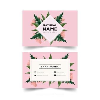 Visitenkarte mit naturkonzept