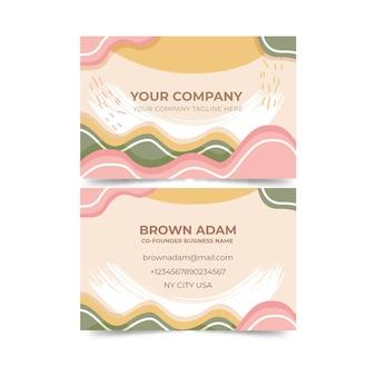 Visitenkarte mit pastell-farbiger fleckzusammenfassungs-schablonensammlung