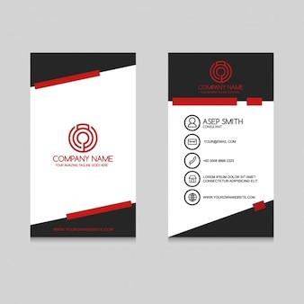 Visitenkarte mit roten und schwarzen formen