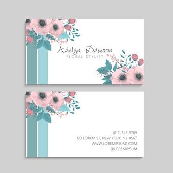 Visitenkarte mit schönen blumen