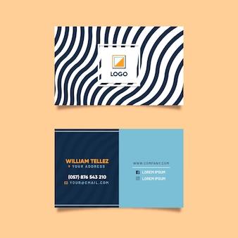 Visitenkarte mit verzerrten zeilen