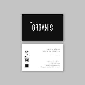 Visitenkarte monochromen stil