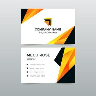 Visitenkarte pack abstrakte vorlage