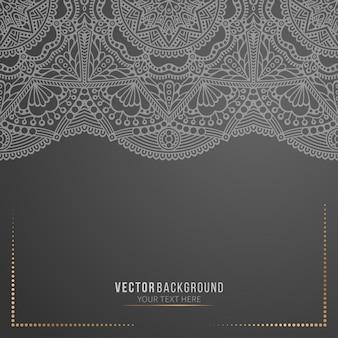 Visitenkarte schwarz mandala hintergrund