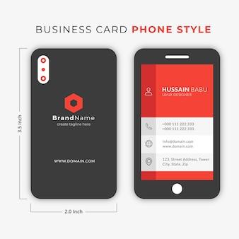 Visitenkarte Smart Handy Stil Premium Vektor