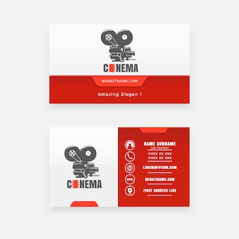 Visitenkarte und logo des filmstudios