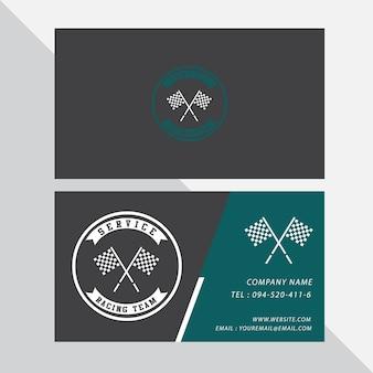 Visitenkarte vektor design und rennen sport.